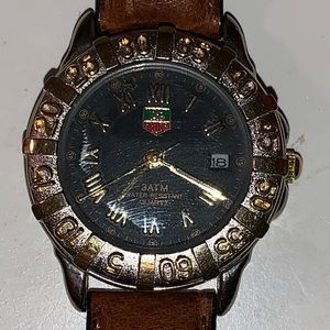 Vintage TAG heuer watch genuine leather